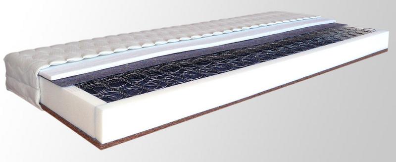 Tvrdá pružinová matrace NATURA 195 x 85 cm