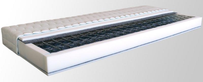 Středně tuhá pružinová matrace PAOLA 190 x 90 cm