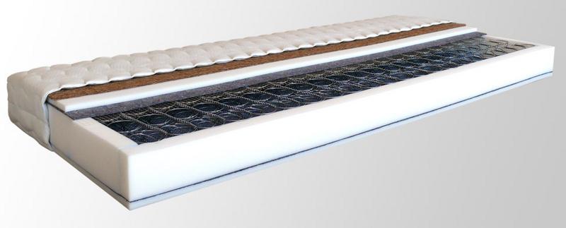Pružinová matrace s kokosem PAOLA NATUR 200 x 160 cm