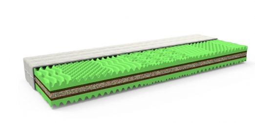 Sendvičová matrace s kokosem SENZA BIO 200 x 140 cm